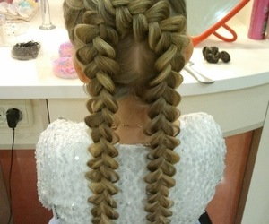 braids, hair, and blonde image