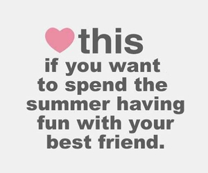 summer, best friends, and fun image