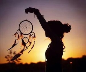 dreamcatcher, sunset, and it's beautiful image