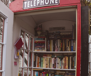 book, telephone, and london image