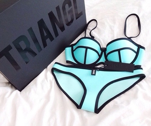 triangl, summer, and bikini image