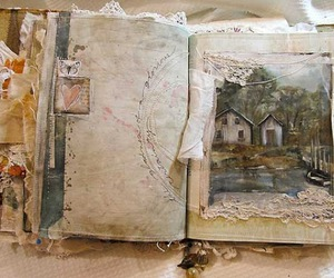 book, scrapbook, and vintage image