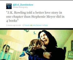 harry potter, snape, and jk rowling image