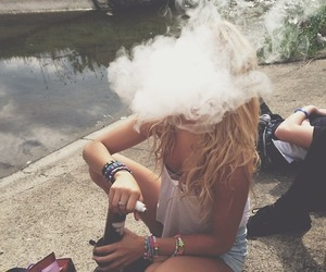 smoke, girl, and summer image