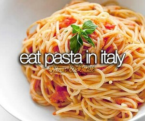 italy, pasta, and bucket list image