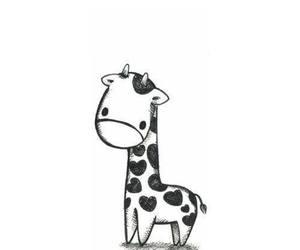 giraffe, cute, and drawing image