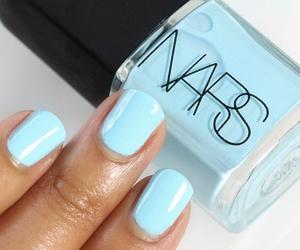 nails, blue, and nars image