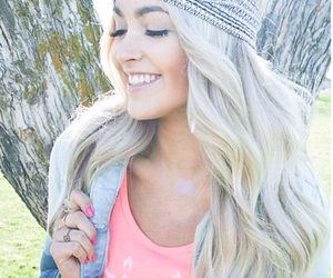cute, blonde, and hair image