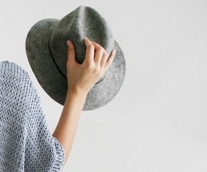 hat, white, and grey image