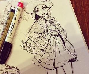anime, art, and draw image