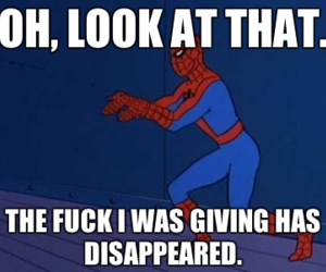 spiderman and i dont care image