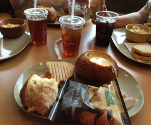 lunch, panera bread, and yummy image