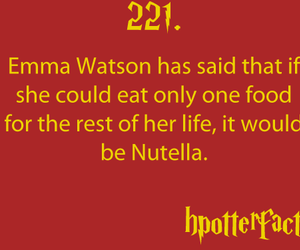 harry potter, nutella, and emma watson image
