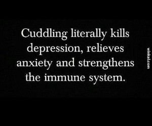 anxiety, cuddling, and depression image