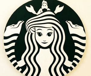 starbucks, ariel, and disney image