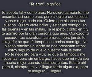 amor, te amo, and espanol image
