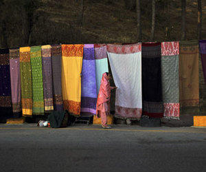 market, scarves, and pakistan image