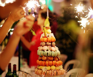 macaroons, party, and cake image