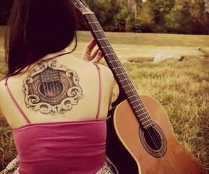 guitarra, musica, and soledad image
