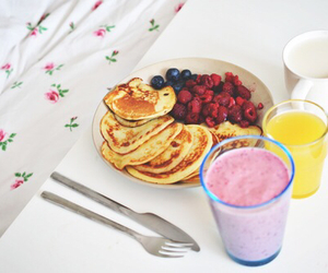 food, pancakes, and healthy image