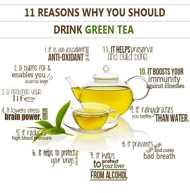green tea, yumm, and getting fit image