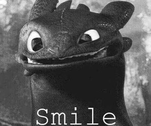 smile, dragon, and toothless image