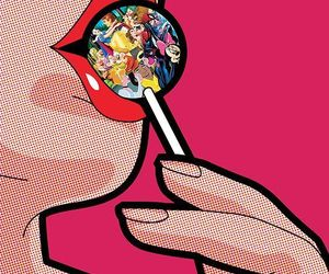 pop art, disney, and lollipop image