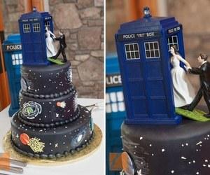 cake, wedding, and doctor who image