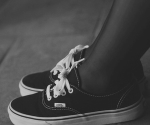 black, vans, and shoes image