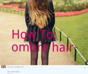 hair, diy, and ombre image