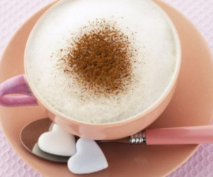 cappuccino, pink, and cute image