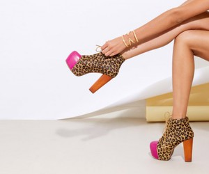 nasty gal, pink, and shoes image