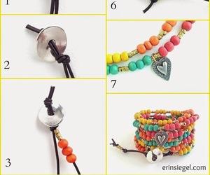 bracelet, diy, and happy image
