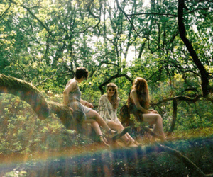 friends, girl, and tree image