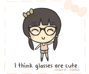 glasses, cute, and girl image