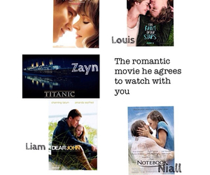 romantic movie, niall horan, and zayn malik image