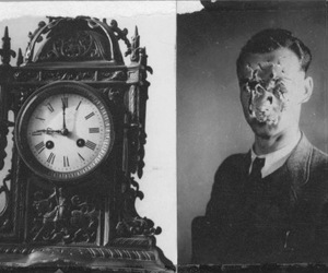 clock, old, and man image