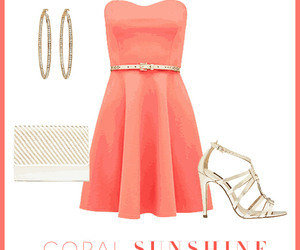 coral, girl, and outfits image