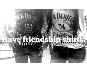best friends, friendship, and jack daniel's image