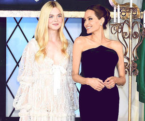 Angelina Jolie, Elle Fanning, and maleficent image