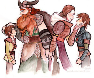 dad, hiccup, and stoick image