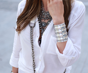 accessories, fashion blogger, and silver image