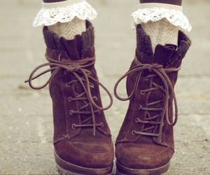 boho, brown, and boots image