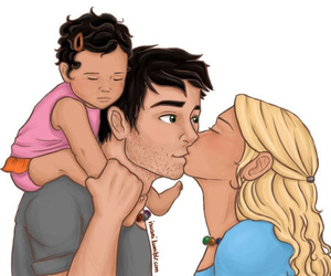kiss, couple, and baby image