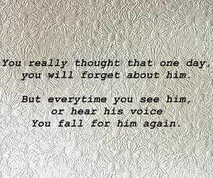 fall in love, him, and quote image