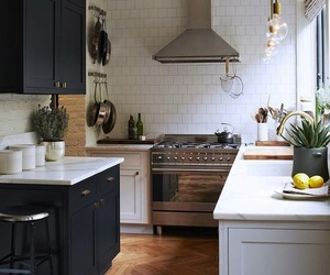 black and kitchen image