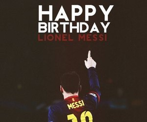 messi and birthday image