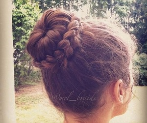 braids, brown, and chignon image