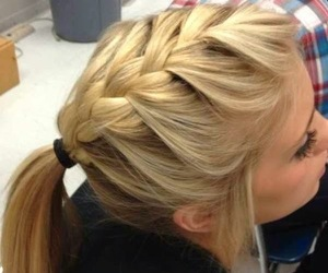 braids, long, and style image