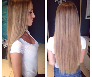 blonde, hairdresser, and longhair image